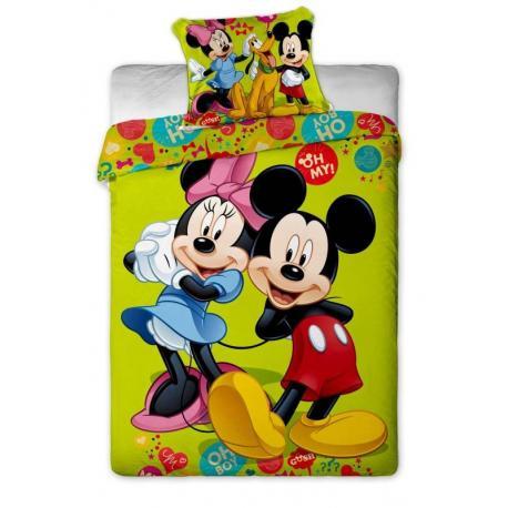 Povlečení Disney - Mickey and Minnie green 1x 140/200, 1x 90/70