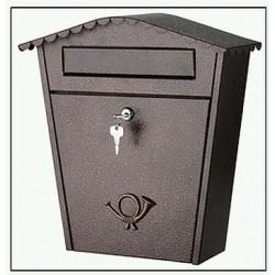 Poštovní schránka se stříškou ferozinek komaxit 6199 (hnědá)