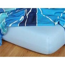 Jersey prostěradlo 140x200 cm (světle modré)