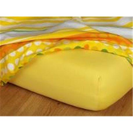 Dadka Jersey prostěradlo EXCLUSIVE tmavě žluté 90x220 cm