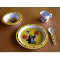Sada nádobí 4dílná Krteček a jahody (žlutá)