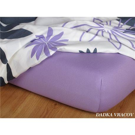 Jersey prostěradlo 90x220 cm (fialové)