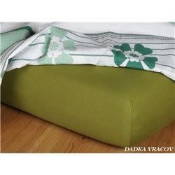 Jersey prostěradlo 180x200 cm (olivové)
