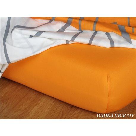 Dadka Jersey prostěradlo EXCLUSIVE pomerančové 140x200 cm