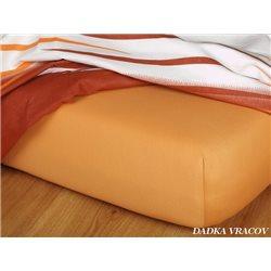 Jersey prostěradlo 90x220 cm (karamel)