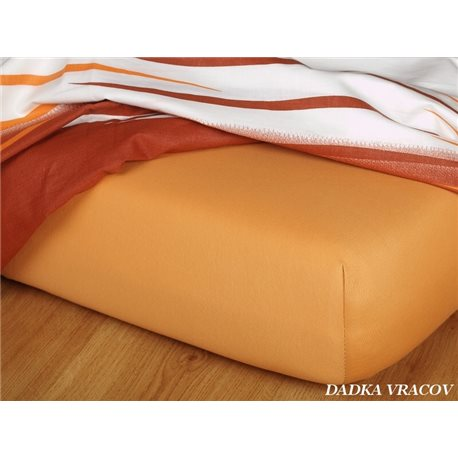 Jersey prostěradlo 60x120 cm (karamel)