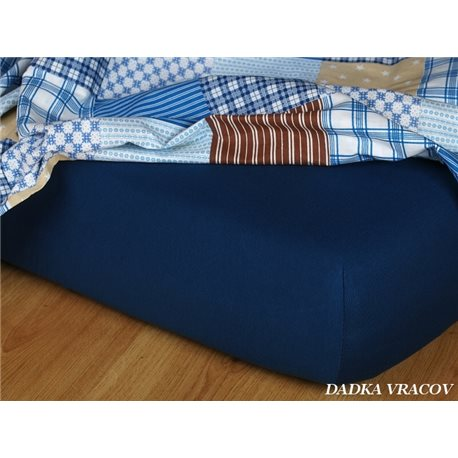 Jersey prostěradlo 180x200 cm (tmavě modré)