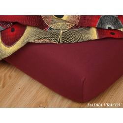 Jersey prostěradlo 90x200 cm (bordó)