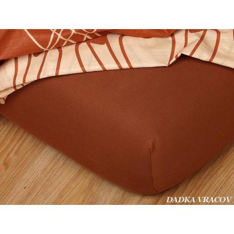 Jersey prostěradlo 90x200 cm (nugátové)