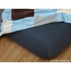Jersey prostěradlo 90x200 cm (tmavě šedé)
