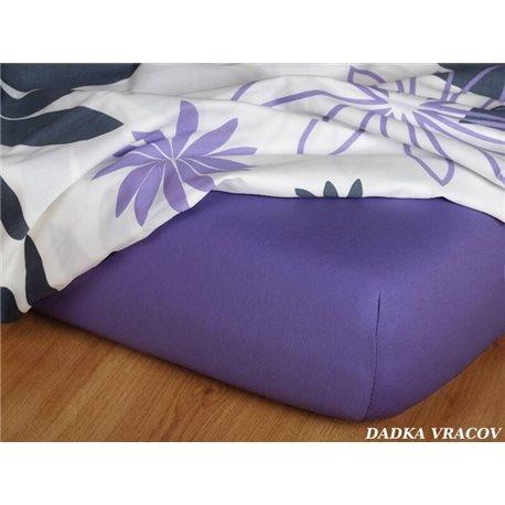 Jersey prostěradlo 90x220 cm (purpurové)