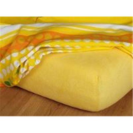Froté prostěradlo 90x220 (tmavě žluté)