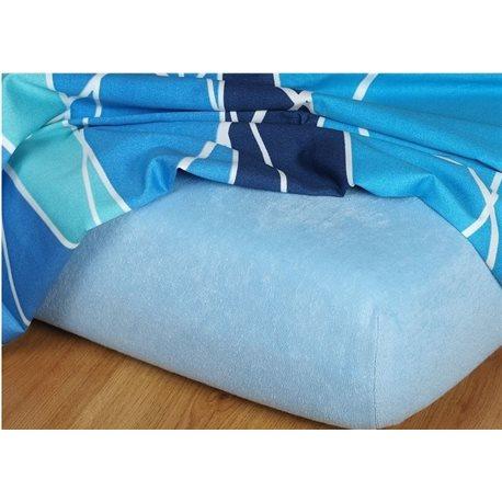 Froté prostěradlo 90x220 cm (světle modré)