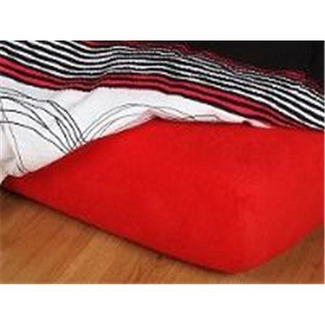 Froté prostěradlo 90x220 cm (červené)