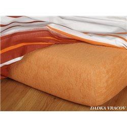 Froté prostěradlo 180x200 cm (karamel)