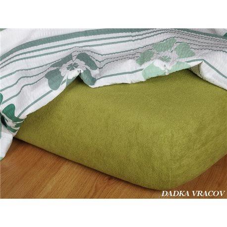 Froté prostěradlo 90x220 cm (olivové)