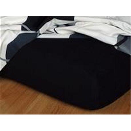Froté prostěradlo 90x220 cm (černé)