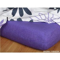 Froté prostěradlo 180x200 cm (purpurové)