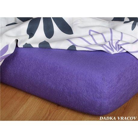 Froté prostěradlo 140x200 cm (purpurové)