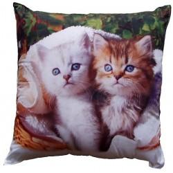Dětský polštářek Bílé a hnědé kotě