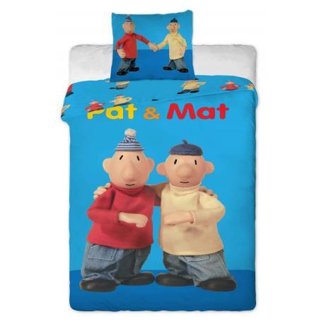 Povlečení bavlna - Pat a Mat blue 1x 140/200, 1x 90/70
