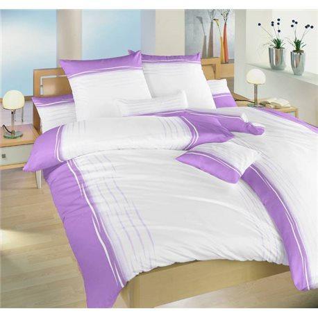 Saténové povlečení Ibiza fialová 200x240, 70x90 cm