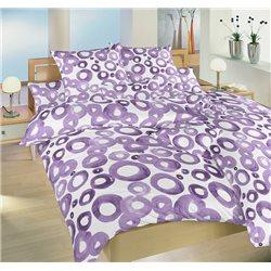 Dadka Akvarel fialový povlečení krep 140x220 70x90