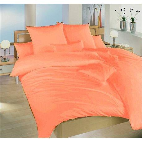 Krepové povlečení jednobarevné 200x240, 70x90 cm (světle oranžové)