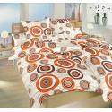 Krepové povlečení Margareta 140x200, 70x90 cm (oranžová)