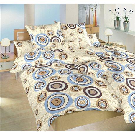 Krepové povlečení Margareta 200x240, 70x90 cm (modrá)
