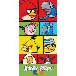 CARBOTEX Osuška Angry Birds Rio kostky 70x140 cm