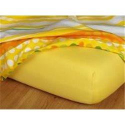 Jersey prostěradlo 90x200 cm (tmavě žluté)