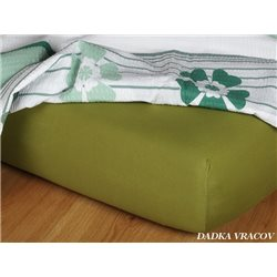 Jersey prostěradlo 90x200 cm (olivové)
