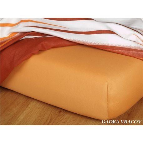 Dadka Jersey prostěradlo EXCLUSIVE karamelové 90x200 cm