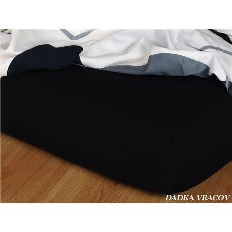Dadka Jersey prostěradlo EXCLUSIVE černé 90x200 cm