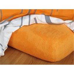 Froté prostěradlo 90x200 cm (pomeranč)