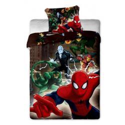 Jerry Fabrics Povlečení Spiderman brown bavlna 140x200 70x90