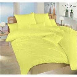 Krepové povlečení jednobarevné 140x220, 70x90 cm (světle žluté)