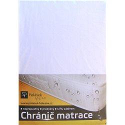 Polášek Nepropustné napínací jersey prostěradlo bílé 180x200