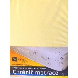Polášek Nepropustné napínací jersey prostěradlo světle žluté180x200
