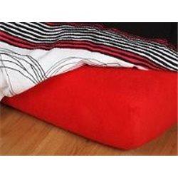Froté prostěradlo 90x200 cm (červené)