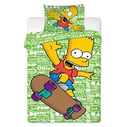 Jerry Fabrics Povlečení Simpsons Bart green 2016 140x200 70x90