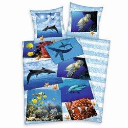 Herding Povlečení Mořský svět bavlna 140x200 70x90