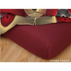 Jersey prostěradlo 140x200 cm (bordó)