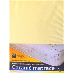 Polášek Nepropustné napínací jersey prostěradlo světle žluté140x200