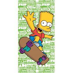 Dětská osuška Simpsons Bart Green 2016