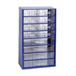 MARS závěsná skříňka, box organizér na šroubky 6754 modrá