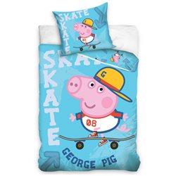 Carbotex Povlečení Peppa Pig George na skatu bavlna 140x200 70x90