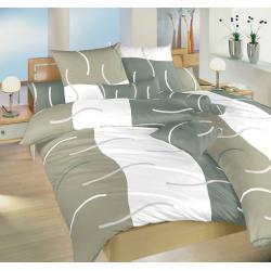 Povlečení bavlna Island šedý 140x200, 70x90 cm