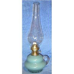 Petrolejová lampa 8''' (zelenomodrá hruška)